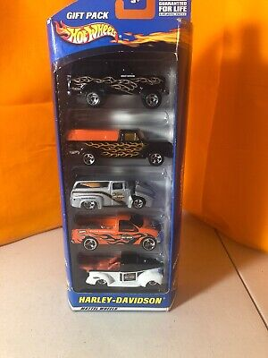 Hot Wheels Harley Davidson 5 Car Gift Pack Set New in Package SEALED