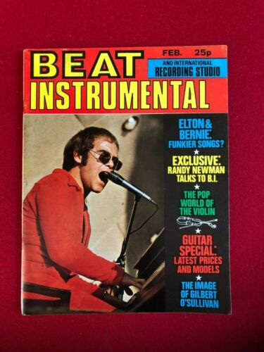 "1972, Elton John, ""BEAT INSTRUMENTAL"" Magazine (No Label) Scarce / Vintage"
