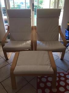 2 armchairs and a foot stool Mosman Mosman Area Preview