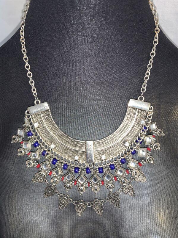 Vintage Thai Bib Necklace , Boho style