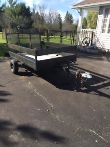 Utility Trailer with fold down ramp