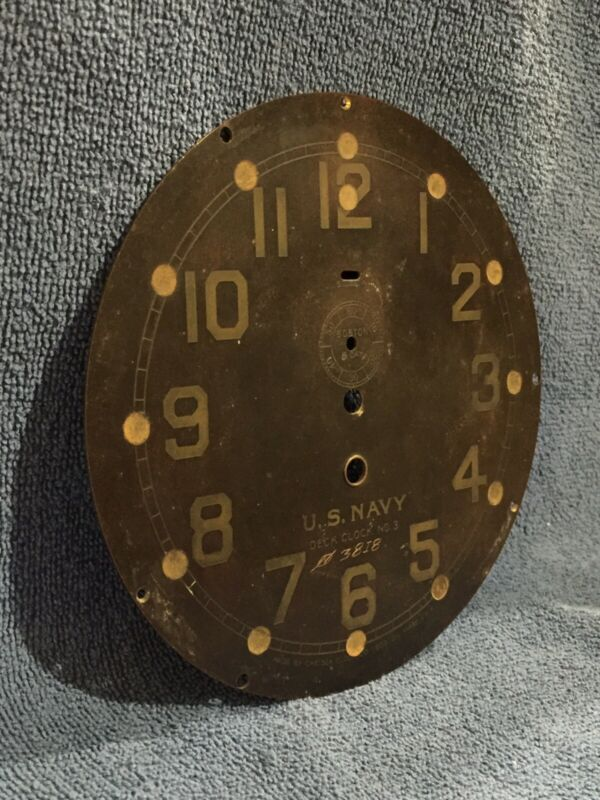 "Chelsea Ships Clock Dial 6"" **U.S. Navy Deck Clock No. 3"