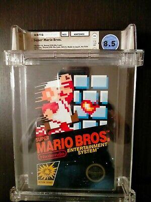 Super Mario Bros Wata 8.5 CIB [No Rev-A,Round SOQ,Mid-Production],NES,no sealed