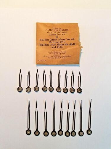 Vintage Genuine WESTCLOX Clock Hands, 9 Pairs, New