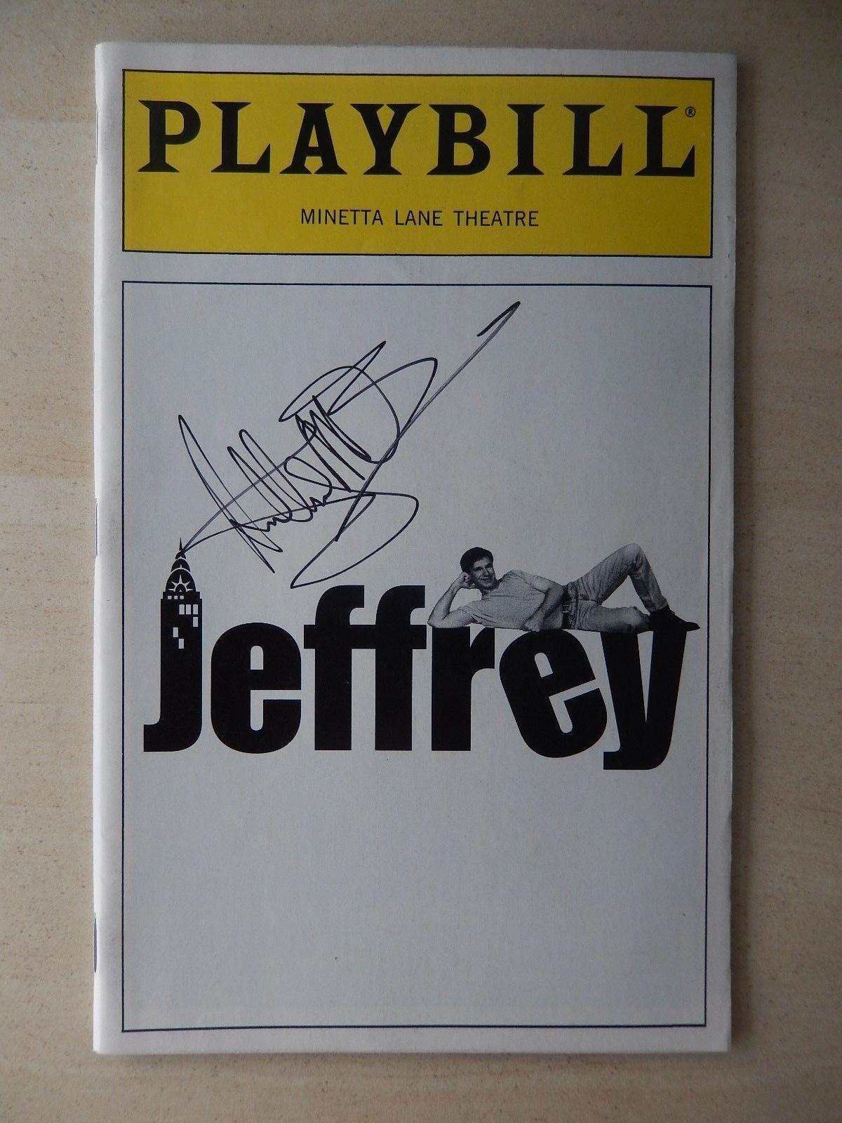 November 1993 - minetta lane playbill - jeffrey - anthony m brown - autographed
