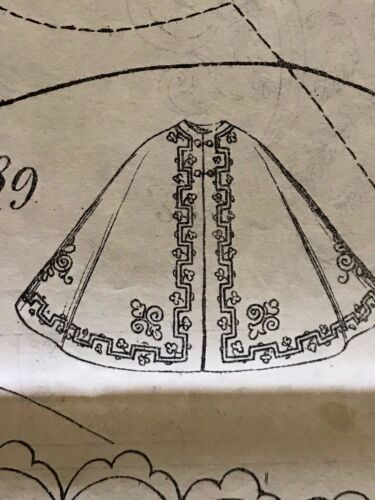 March 1862 SEWING PATTERNS for  DOLL and ladies (tracings)