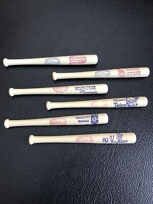 Vintage MLB 1970's Mini Plastic Louisville Slugger Bats Lot.