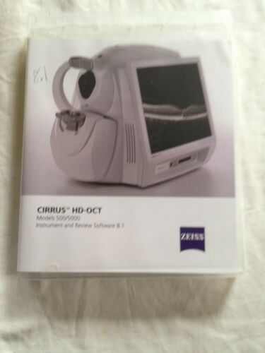 ophthalmology Cirrus HD OCT models 500/5000 software 8.1-- USB A&B by Zeiss