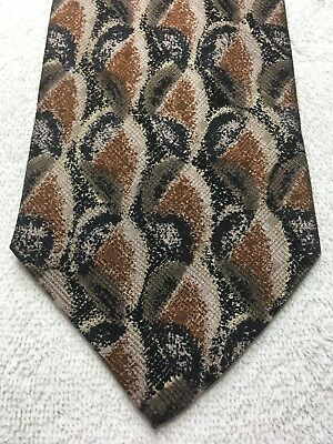 Used, J RIGGINS MENS TIE SHADES OF BROWN AND BLACK 4 X 59 for sale  Largo