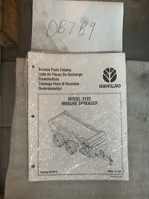 New Holland Model 3102 Manure Spreader Parts Manual Nip