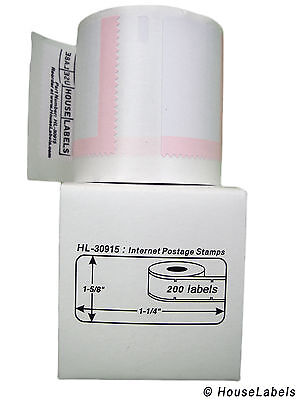 1 Roll Of 200 Internet Postage Labels For Dymo Labelwriters 30915 Bpa Free