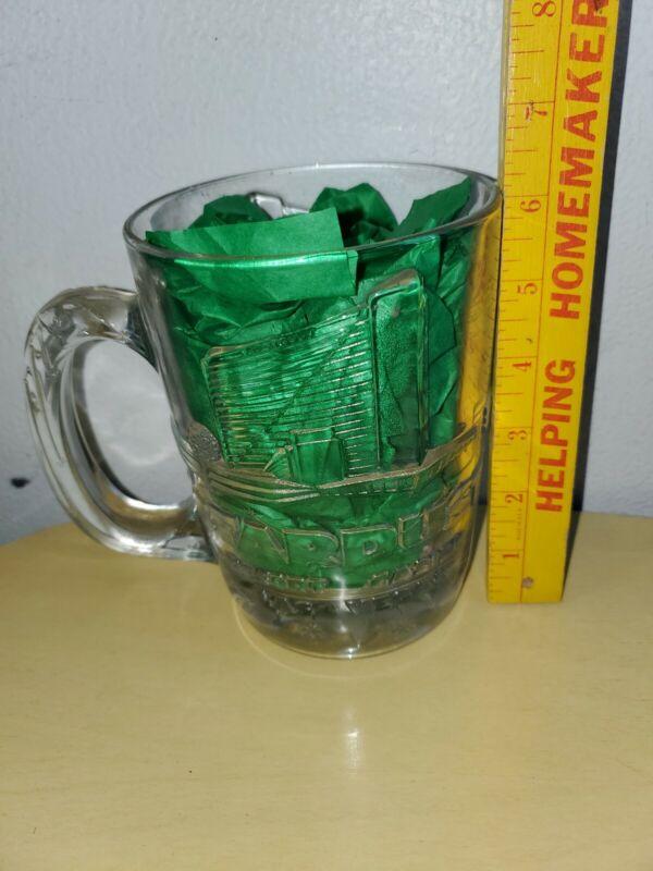 Stardust Resort Casino Las Vegas Vintage Heavy Clear Glass Mug
