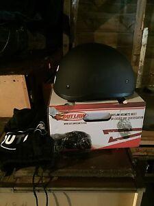 Outlaw motorcycle helmet