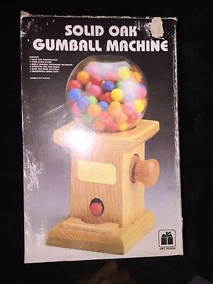 Solid Oak Gumball Machine (Gift Design) Small Size (Small Gumball Machine)