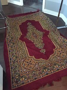 Large red carpet/rug (thin material)