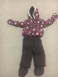 Size 12-18 mths snowsuit with mittens and booties attached