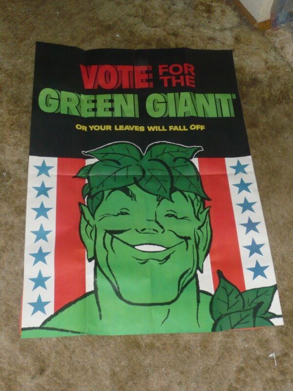 Vote For The Green Giant Card 1 Pin 1 Sticker 1 Poster