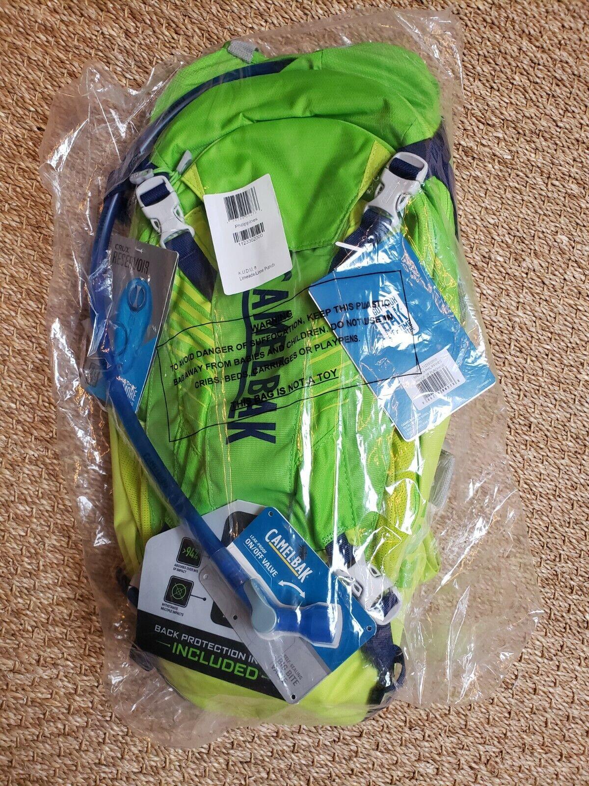 CamelBak KUDU 8 Hydration Bike Backpack with Impact Protecto