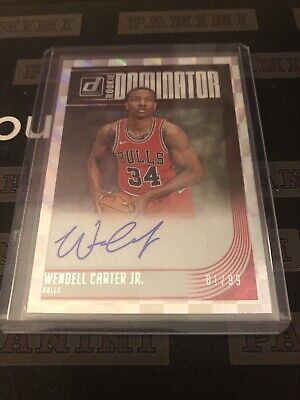2018-19 Panini Donruss Wendell Carter Auto Autograph