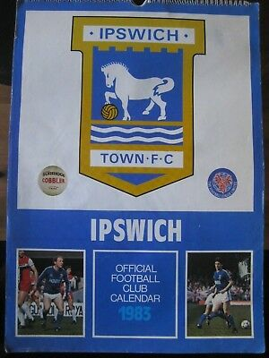 Ipswich Town Official Club Calender 1983