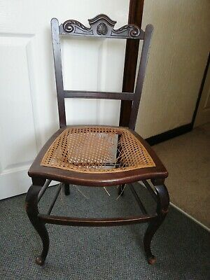 Antique Bedroom Chair, Woven Seat For Refurbishment, Project