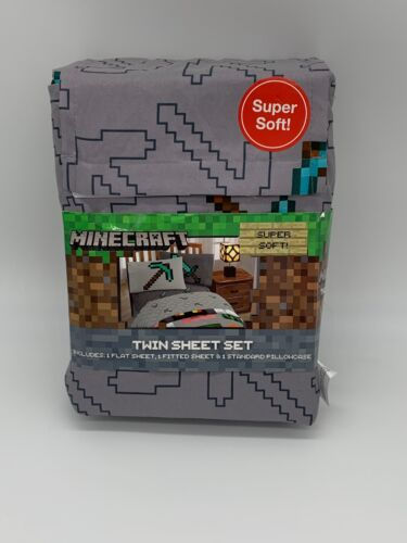 Twin Bedding Minecraft Twin Sheet Sets Clearance For Boys Toddler Diamond Sword