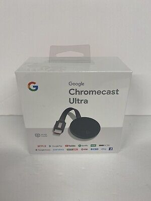 Google Chromecast Ultra 4K HDMI Media Streaming Player Sealed Netflix YouTube