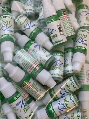 50 Ice Drops Spearmint Bulk Liquid Breath Fresheners 2022 Exp