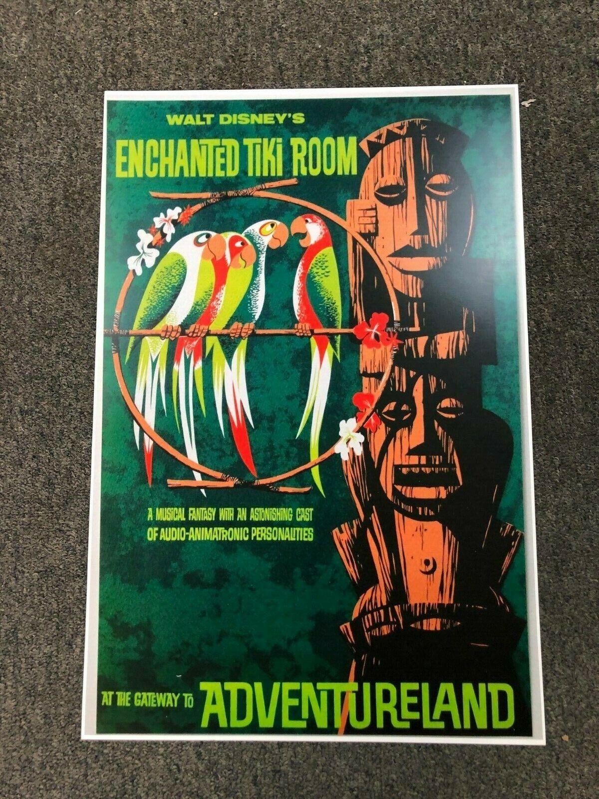 "Vintage Disney 11/"" x 17/"" Collector/'s Poster Print Enchanted Tiki B2G1F"