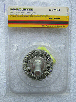 Marquette - Coarse Wire Wheel Brush 1.5 Diameter - 14 Shank Model M57104