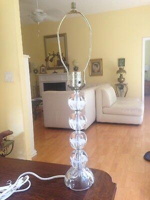 Beautiful Control Bubble Art Glass Paperweight Lamp Bart Zimmerman 1984