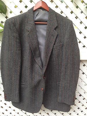 Vittorio Rex Wool 2 Button Sports Coat Blazer Jacket Men's 43L Made in Italy GUC
