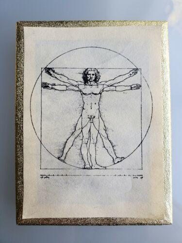 Vintage Leonardo da Vinci Vitruvian Man Antioch Bookplate Box of 45 Bookplates