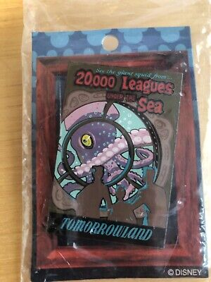 Disney 20,000 Leagues Under the Sea Poster Rare Pin 20k Tomorrowland Attraction