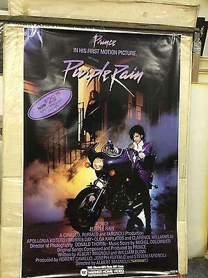 PRINCE Purple Rain U.S. VHS Promo Poster 1984 ORIGINAL