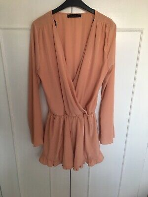 Honey Punch Peach Playsuit Size Small