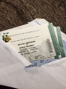 4 lower bowl tickets for the Mooseheads dec 8 game