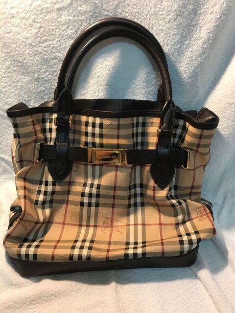 a3c790494498 Authentic Burberry Leather Medium Haymarket Golderton Tote handbag