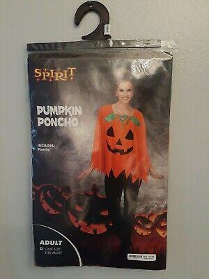 Spirit Halloween Pumpkin Poncho Ladies One Size