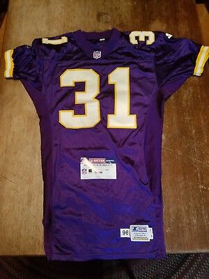 7d261c033 Vintage 1996 Minnesota Vikings Scottie Graham  31 Authentic Game Used Jersey  PSA