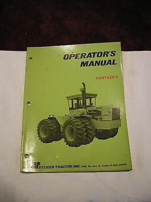 Steiger Panther Ii Series Tractors Original Operators Manual 37-021