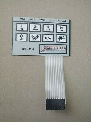 Detecto Indicator 8 Keys Front Panel Keypad Layover Membrane Switch