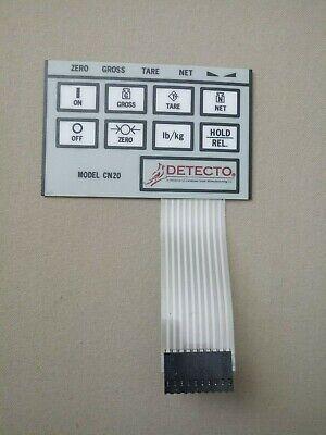 Detecto Indicator 8 Keys Front Panel Keypad Layover Membrane Switch