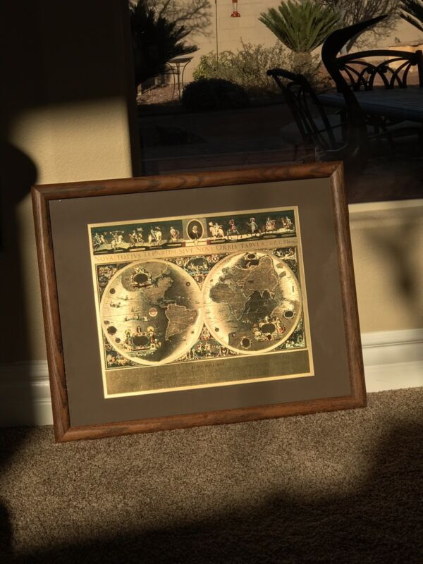 Gold Foil Bleau World Map