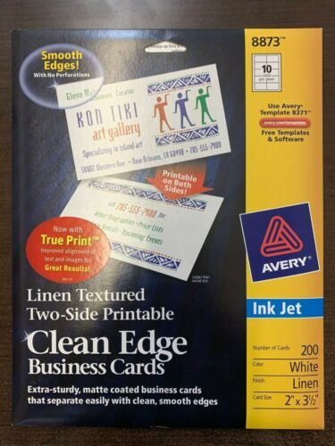 Avery 8873 (8371) White Linen Ink Jet Business Cards (11 unopened packages)