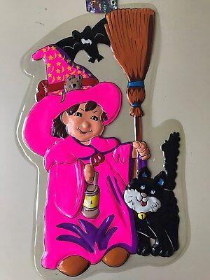 Bild Halloween ( Halloween 3D Kunststoff Wandbild Hexe Geister Raum Deko Wand)