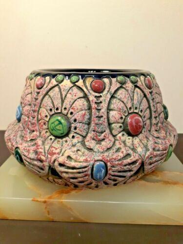 Antique Art Nouveau Amphora Bowl Czechoslovakia 1920