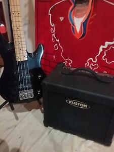 Samick bass guitar and bass amp Craigieburn Hume Area Preview