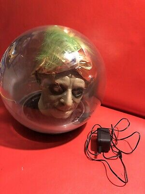 "Vtg Gemmy Spirit Ball 14"" Animated Talking Zultan Fortune Teller w/ Cord See Des"