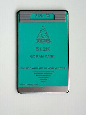 Tds 512k Ram Card For Hp 48gx Calculator Hewlett Packard